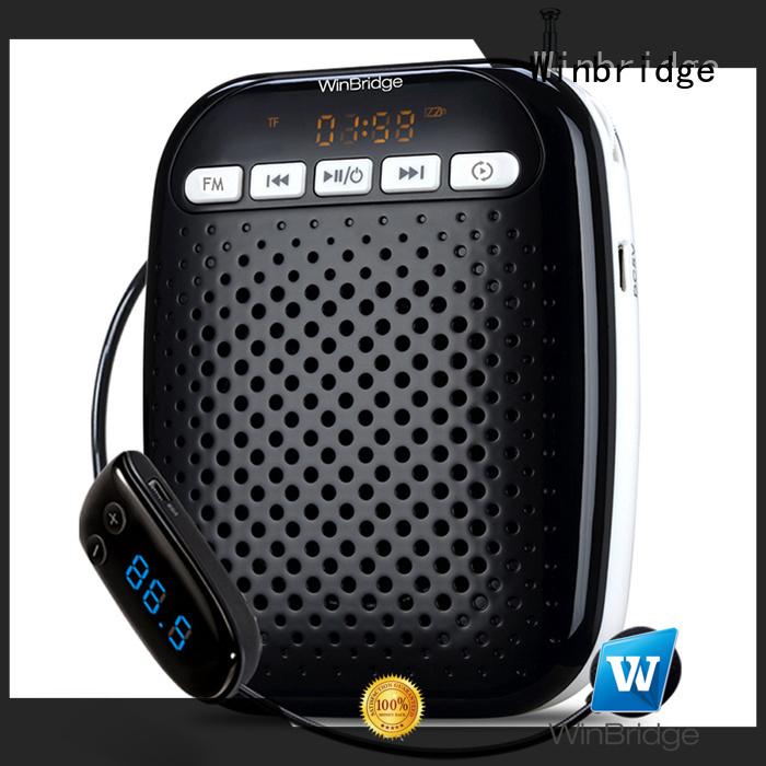 teacher voice amplifier portable microphone speaker wired winbridge voice enhancer Winbridge Brand
