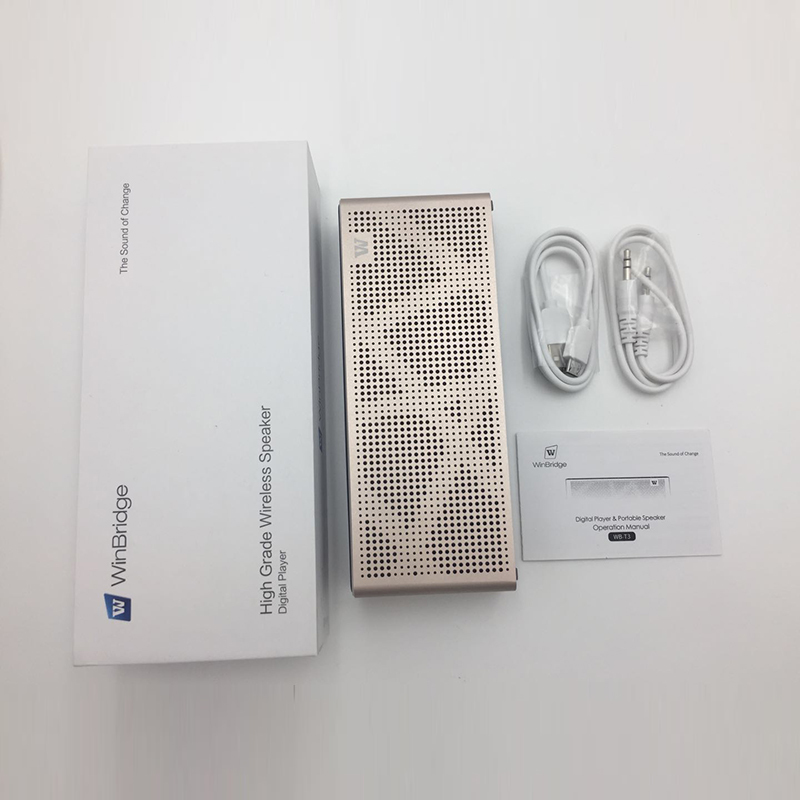 Winbridge Brand waterproof panel portable bluetooth speaker