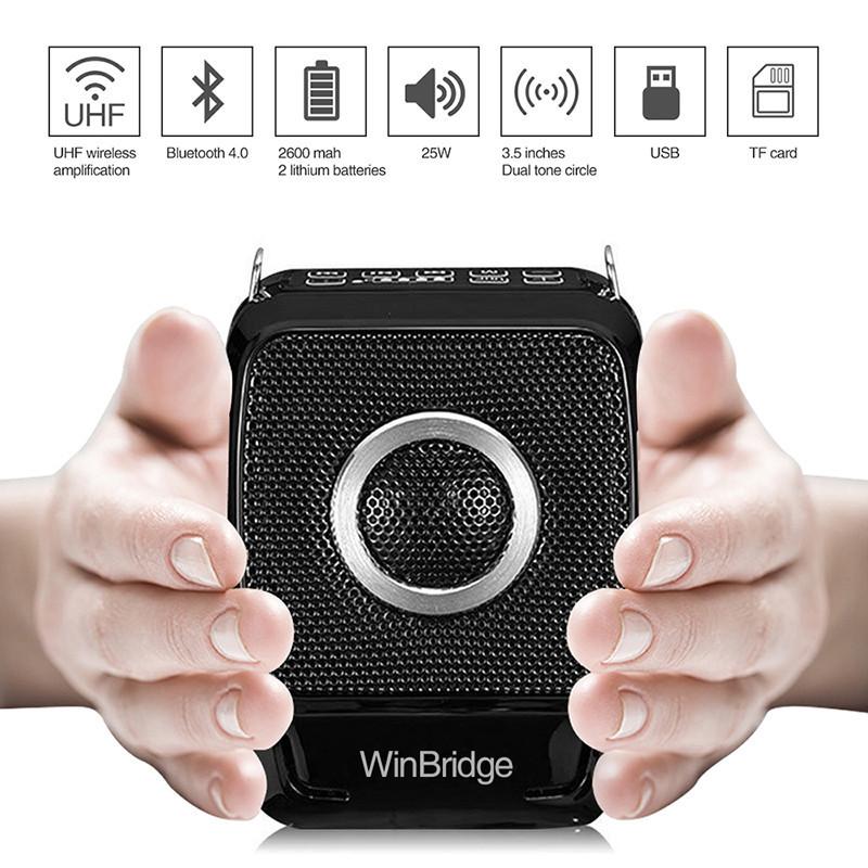 Winbridge Brand bluetooth teacher voice amplifier portable microphone speaker waterproof supplier