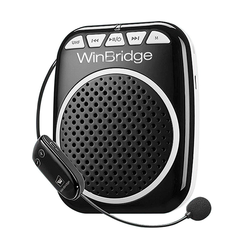 WinBridge Portable Wireless Voice Amplifier WB711 with Waistband, MP3 Player/U Disk/TF