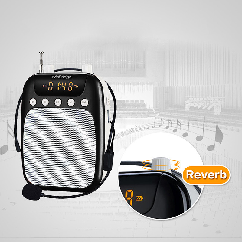 teacher voice amplifier portable microphone speaker rechargeable waistband teacher Winbridge Brand