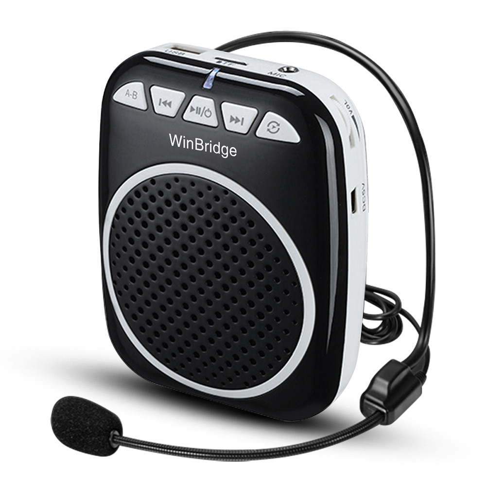 wired winbridge teacher voice amplifier portable microphone speaker wireless Winbridge company
