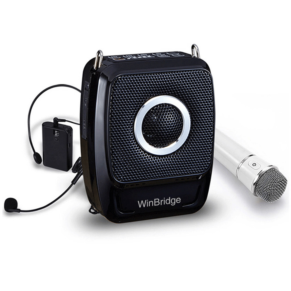 teacher voice amplifier portable microphone speaker rechargeable waistband voice enhancer Winbridge Brand