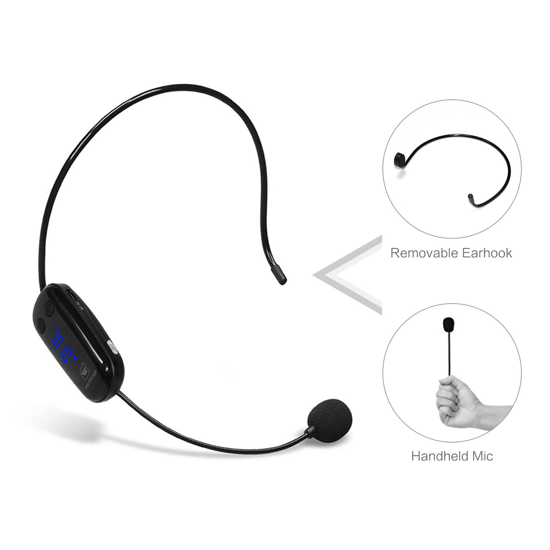 Winbridge WB031 Wireless Dual UHF Headset Microphone With Receiver