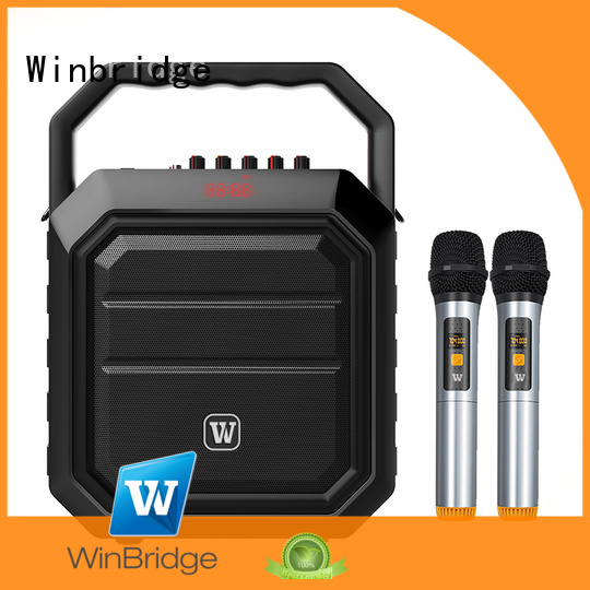 speaker karaoke bluetooth remote control portable Winbridge Brand