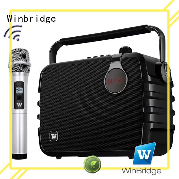 Wholesale ergonomic multifunctional karaoke speaker Winbridge Brand