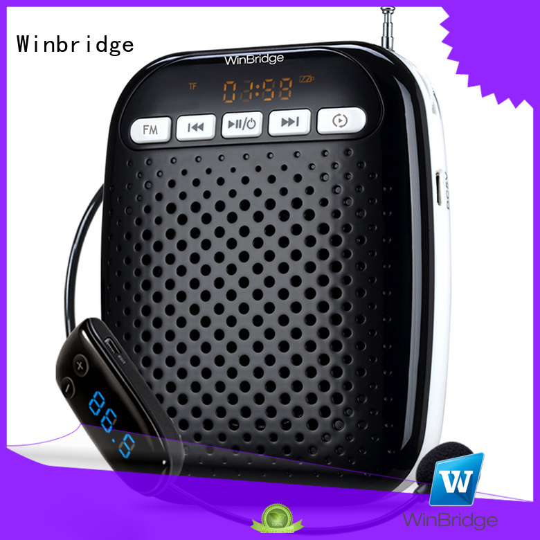 teacher voice amplifier portable microphone speaker headset portable Winbridge Brand company
