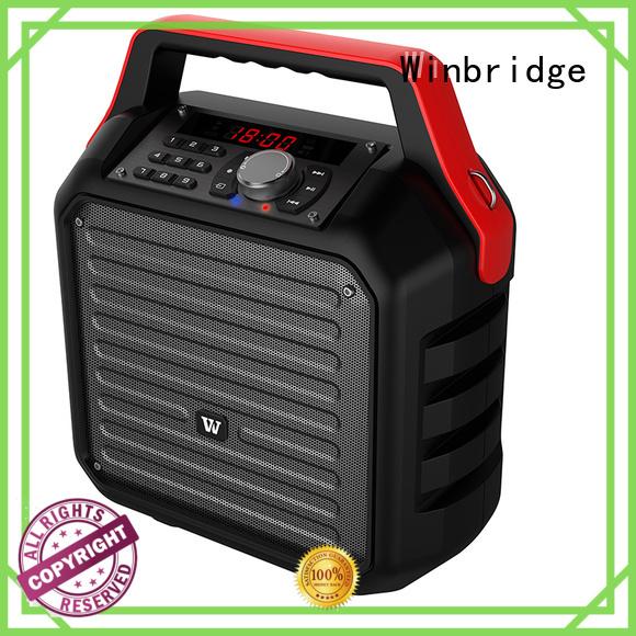 Winbridge Brand remote control wireless speaker karaoke outdoor supplier