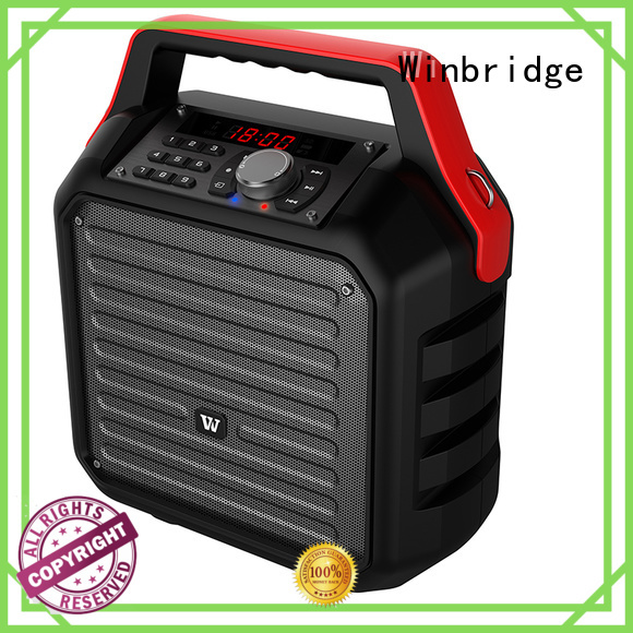 Winbridge Brand remote control wireless speaker karaoke outdoor supplier