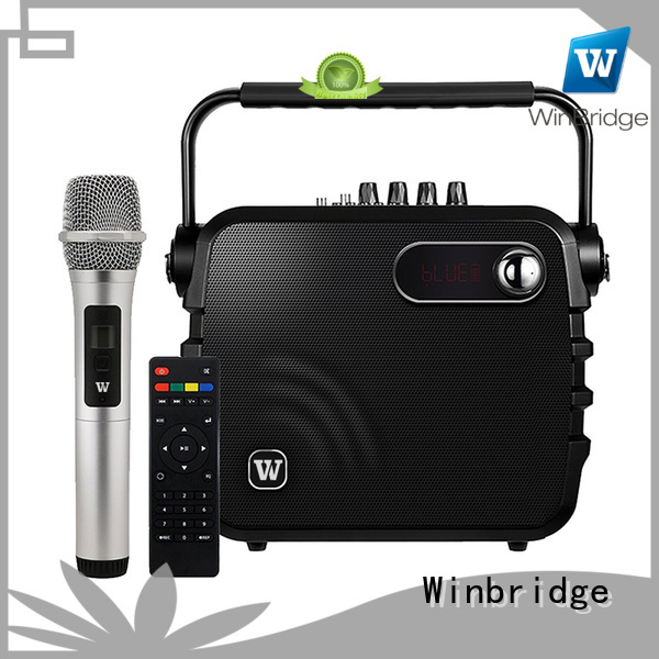 comfortable microphone bluetooth karaoke speaker Winbridge Brand