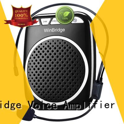 wired winbridge teacher voice amplifier portable microphone speaker wireless Winbridge company