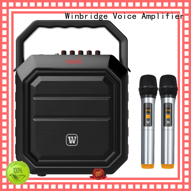 Quality Winbridge Brand speaker karaoke bluetooth microphone