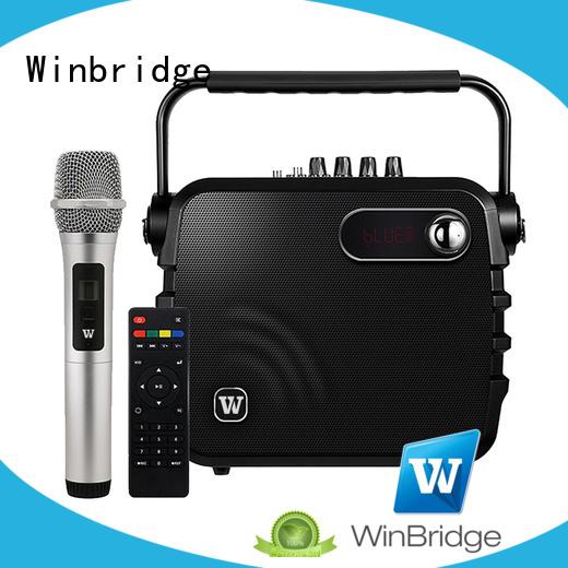 Hot multifunction karaoke speaker microphone remote control Winbridge Brand