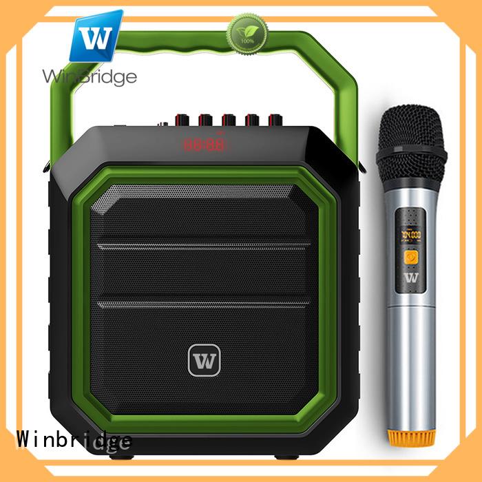 Winbridge Brand stylish portable speaker karaoke multifunction supplier