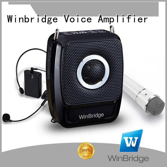 teacher voice amplifier portable microphone speaker wireless headset wired Winbridge Brand company