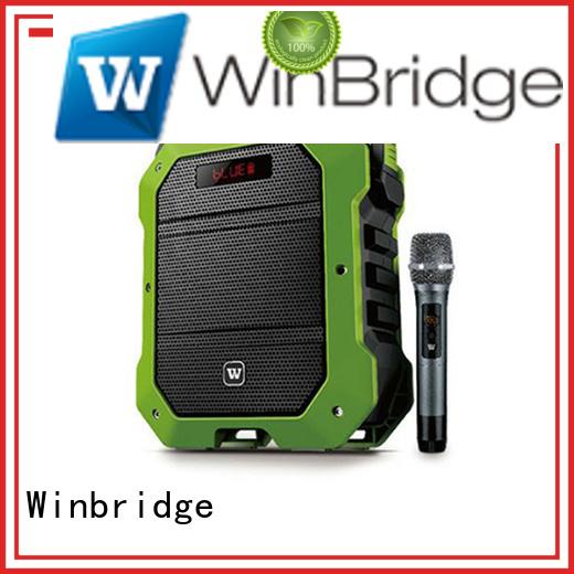 Winbridge Brand wireless multifunctional comfortable karaoke speaker manufacture