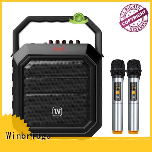 stylish microphone karaoke speaker wireless Winbridge company