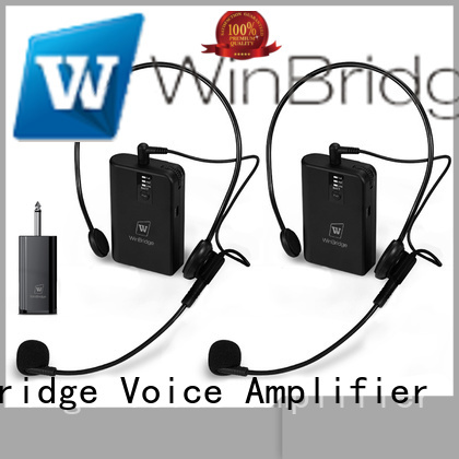 lapel recording headset Winbridge Brand mic wireless factory