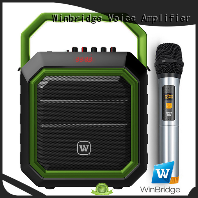Winbridge Brand multifunctional portable bluetooth karaoke speaker manufacture