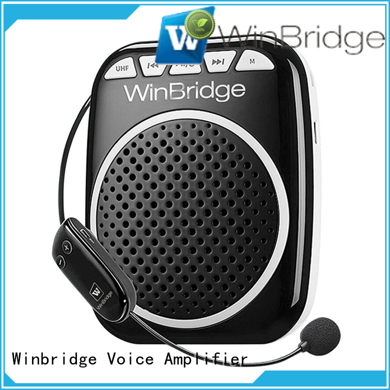 rechargeable voice enhancer wireless Winbridge company