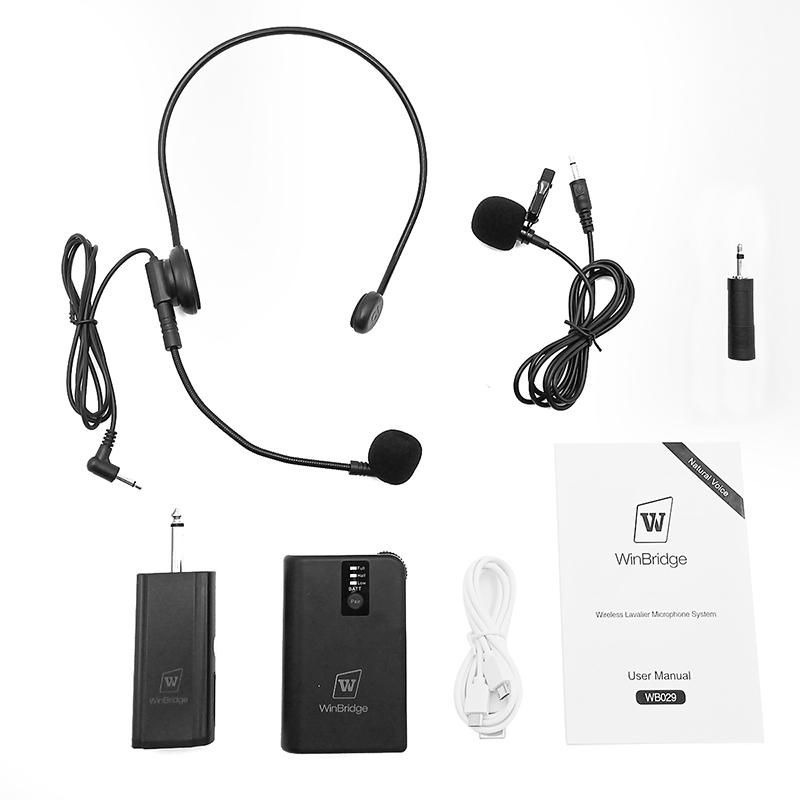 Winbridge Brand lapel mic wireless wired supplier