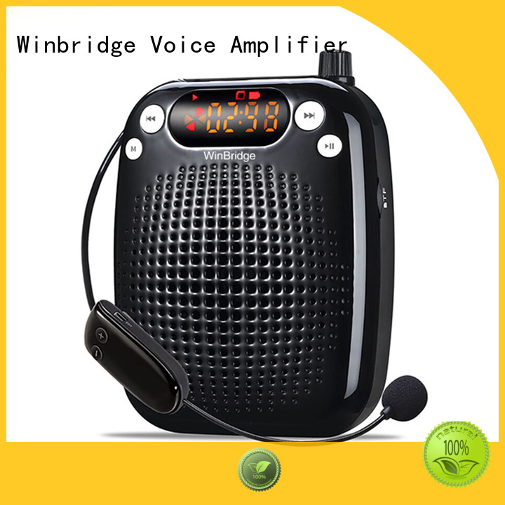mini teacher teacher voice amplifier portable microphone speaker wireless bluetooth Winbridge Brand