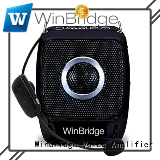 Winbridge Brand waterproof teacher voice amplifier portable microphone speaker rechargeable supplier
