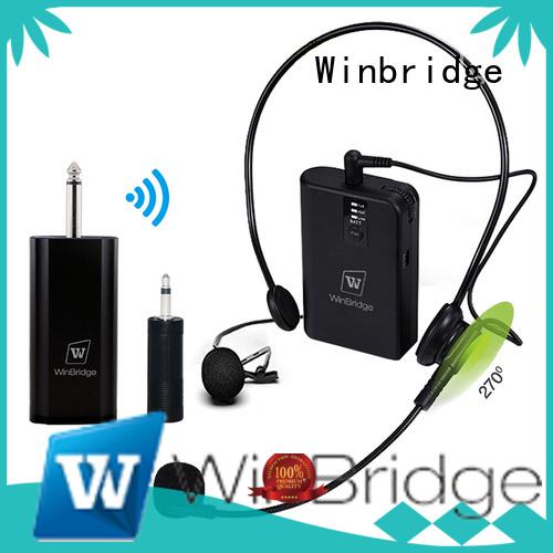 recording lapel mic wireless humanized appearance Winbridge company