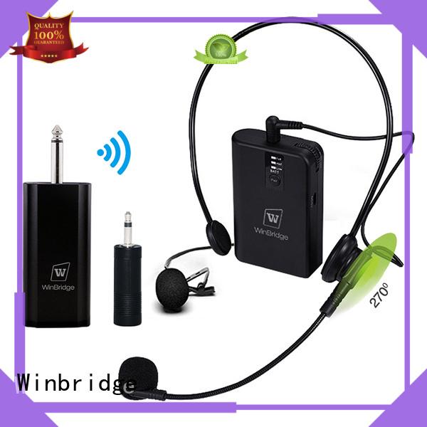 Hot receiver wireless microphone system video recording Winbridge Brand